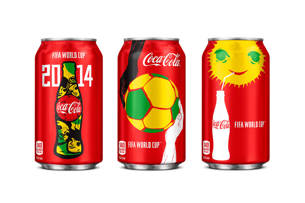 Coca-Cola разработала дизайн банки к чемпионату мира по футболу