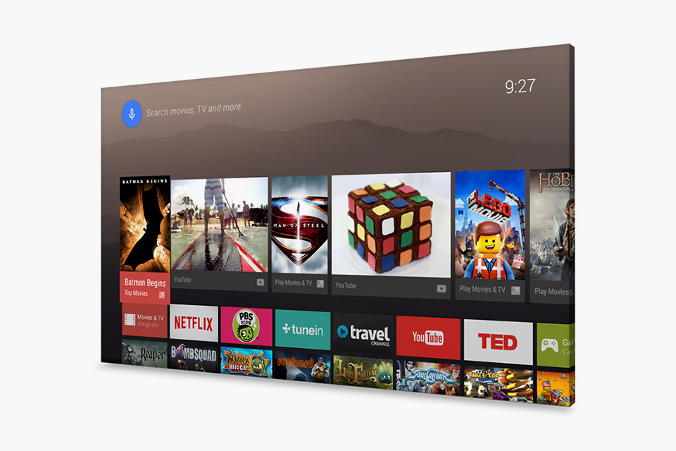 Google представила платформу Android TV