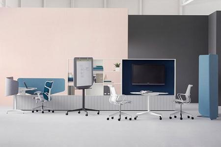 Две новые линии офисной мебели Herman Miller от Fuseproject и Industrial Facility