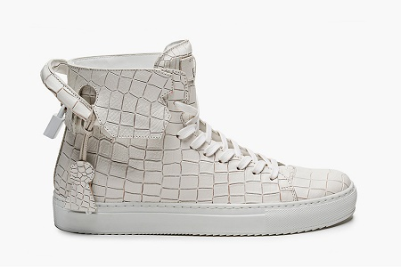 Кеды En Noir x Buscemi 125mm Croc-Stamped Leather High Top