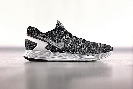 newest f3370 2ce82 Кроссовки Nike Flyknit Lunarglide 6 Grey Black
