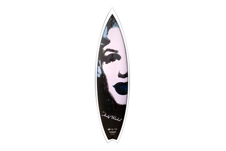 "Серфборд Andy Warhol Foundation x Tim Bessel Surfboards ""Marilyn"""
