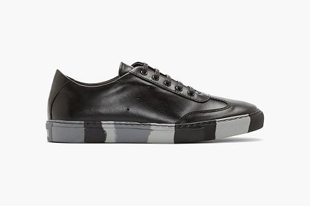 """Кеды COMME des GARÇONS SHIRT Leather """"Black & Grey Camo"""""""