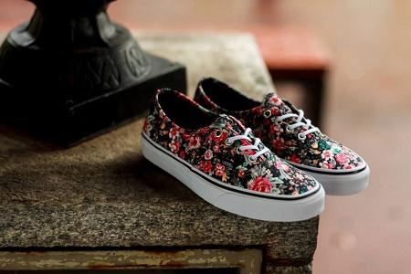 "Кеды Vans Authentic ""Flower Print"" сезона Осень 2014"