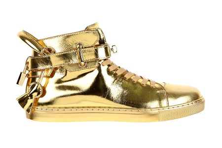 Кеды Buscemi 100 mm High Top Gold