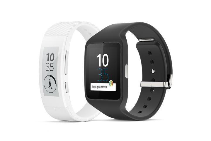 Sony представила часы Smartwatch 3 и браслет SmartBand Talk