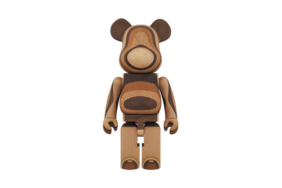 Bearbrick 1000% из слоеного дерева от Karimoku и Medicom Toy