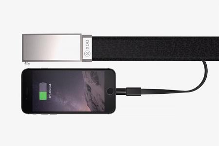 XOO Belt — проект ремня с аккумулятором для зарядки смартфонов