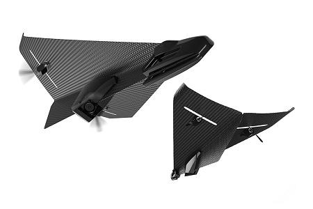 Carbon Flyer – дрон из карбона, похожий на бумажный самолётик
