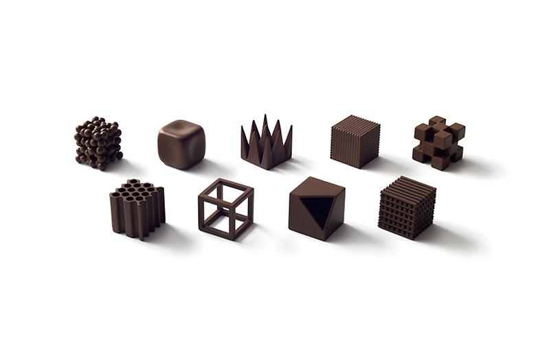 Дизайнеры Nendo разработали шоколад с разными текстурами