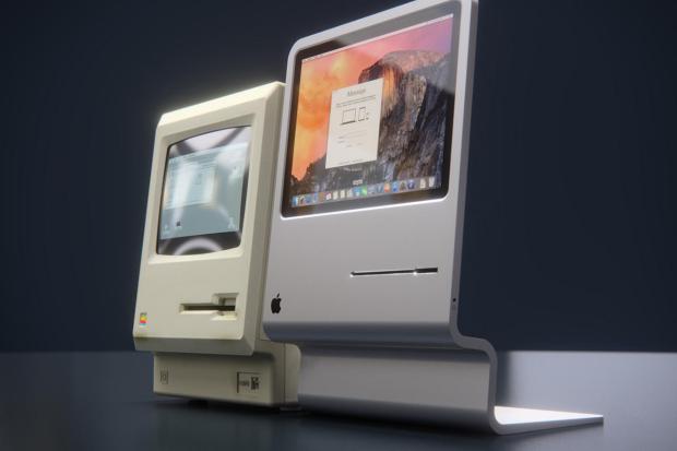 Концепт iMac, созданный студией CURVED/lab