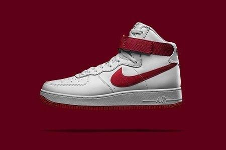 """Кроссовки Nike Air Force 1 High """"NAI KE"""""""