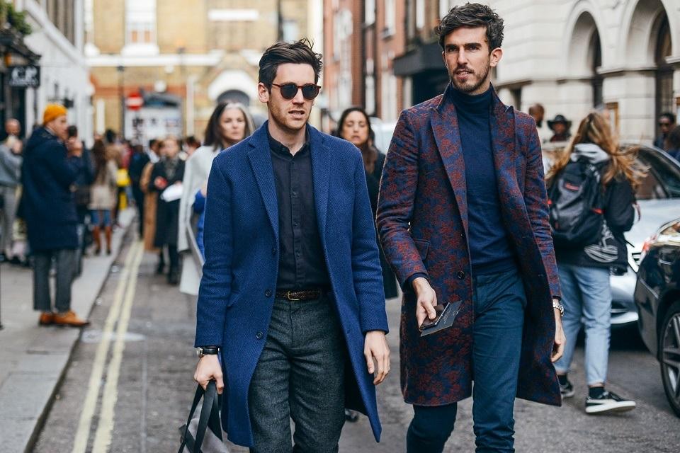 c82f5a46a01 Уличный стиль  Неделя мужской моды в Лондоне Осень Зима 2015. Часть ...