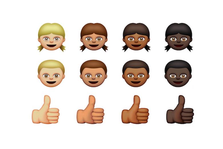 Apple представила виртуальную клавиатуру Emoji с разными цветами кожи