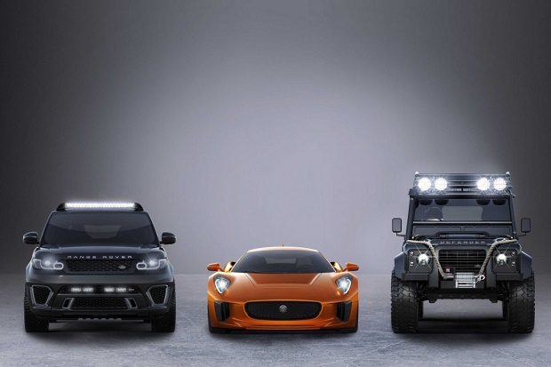 "Land Rover Defender, Jaguar C-X75 и Range Rover Sport SVR снимутся в ""бондиане"""