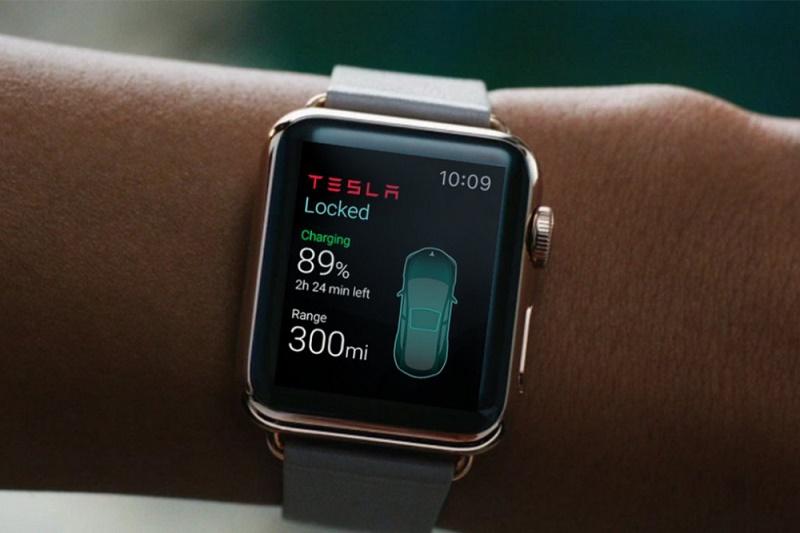 Приложение для управления Tesla c Apple Watch