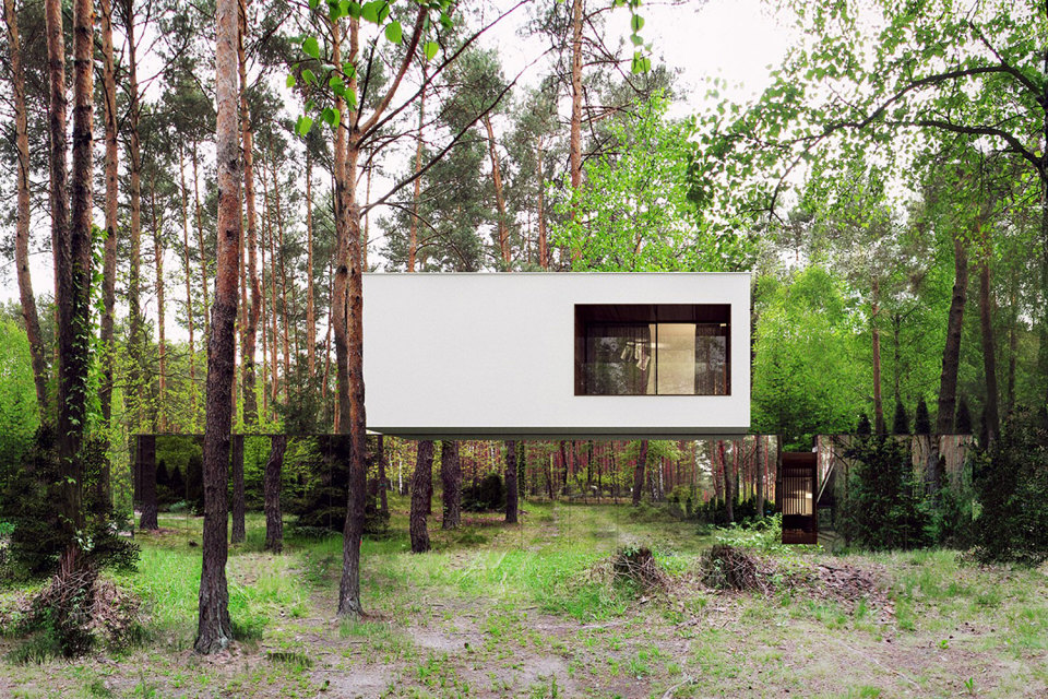 Современный дом Izabelin Mirror от REFORM Architekt