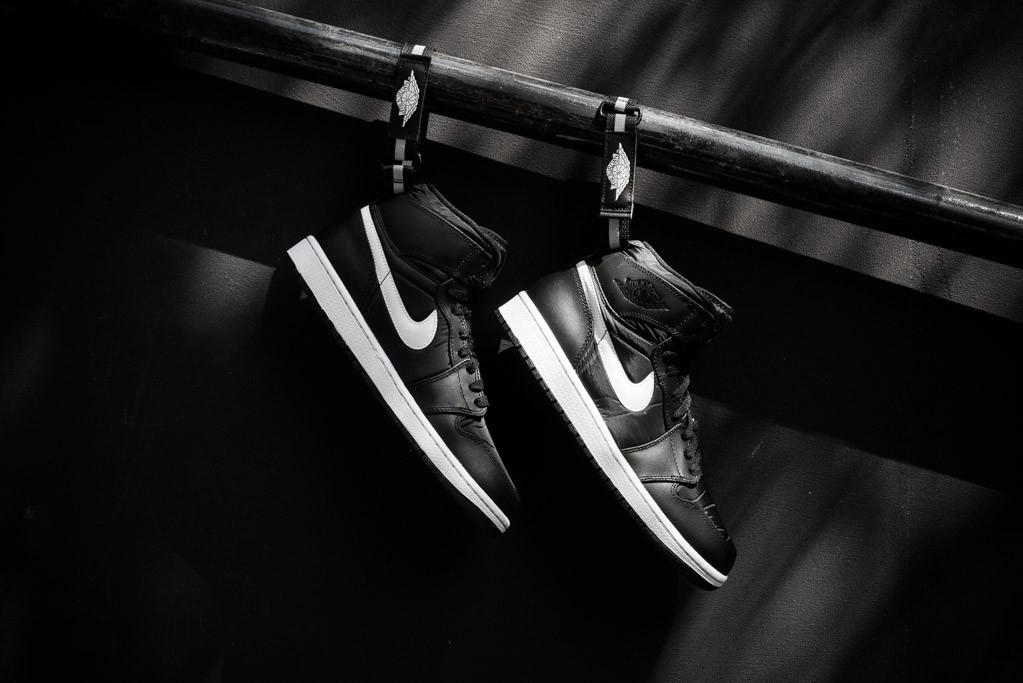 Кеды Air Jordan 1 High Strap Black/White