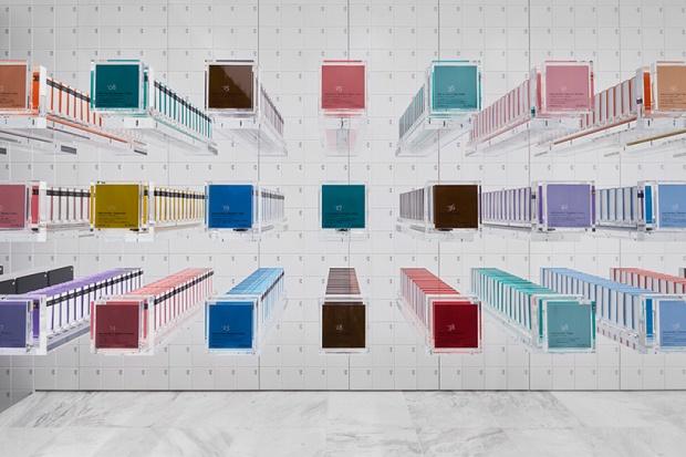 Магазин шоколада с 3D-витриной в Токио