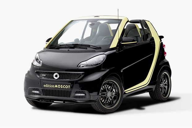 В Милане прошла презентация спецверсии Smart Fortwo Cabrio Edition Moscot