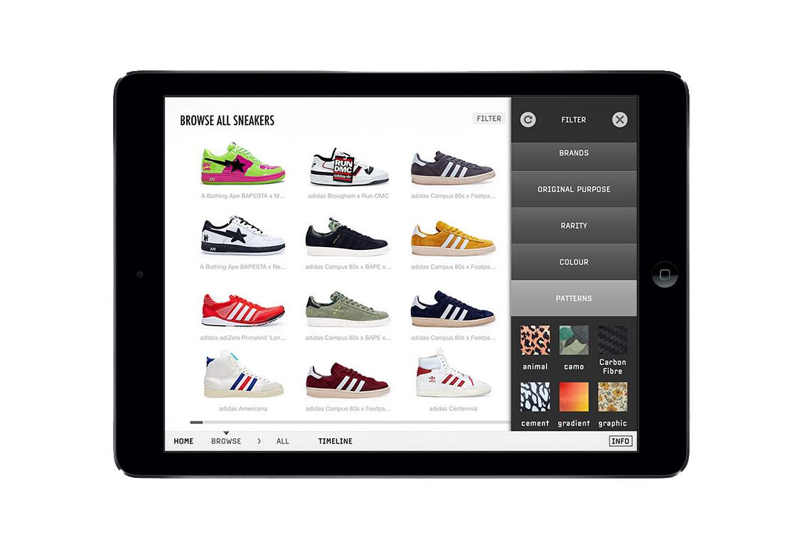 Приложение Sneakers: The Complete от U-Dox