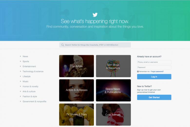 Twitter изменил дизайн главной страницы