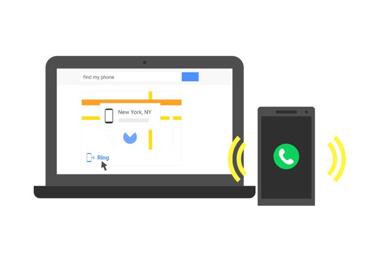 В строке поиска Google появилась возможность искать пропавший смартфон