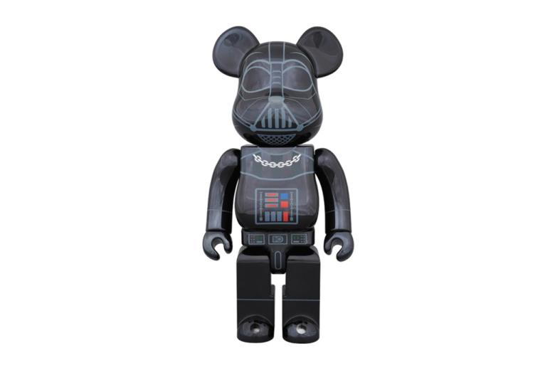 "Фигурка 'Star Wars' x Medicom Toy 400% & 100% Darth Vader ""Chrome"" Bearbricks"