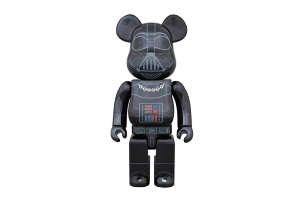 "Фигурка 'Star Wars' x Medicom Toy 400% & 100% Darth Vader ""Chrome"" Bearbricks"