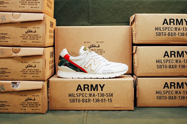 "Кроссовки SBTG x Born & Raised x New Balance MRL996EW ""Bravo Romeo"""