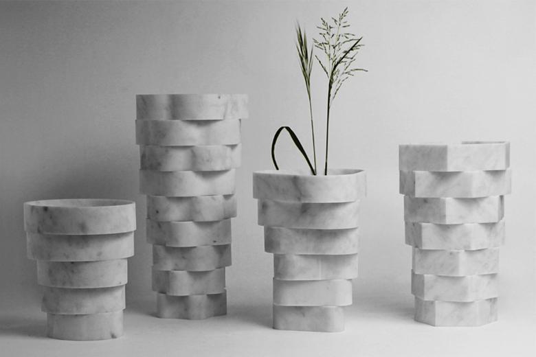 Мраморные вазы Little Gerla от Паоло Улиана и Морелло Ратти