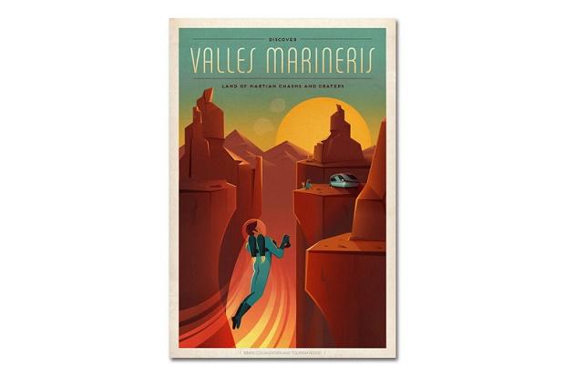 Винтажные постеры от SpaceX приглашают туристов на Марс