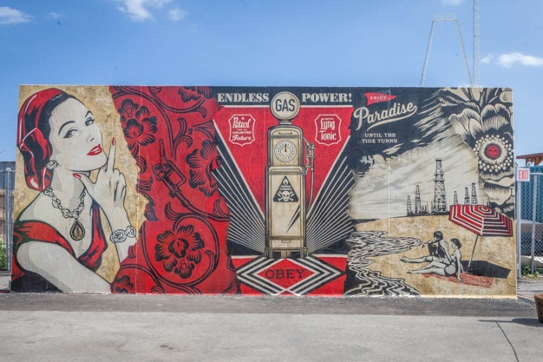 Ben Eine, Shepard Fairey, How and Nosm, Daze и CRASH разрисовали стены Art Walls в Кони-Айленде