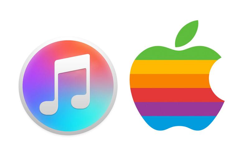 Классический логотип Apple стал основой будущего значка iTunes