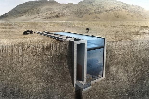 Концепт Casa Brutale в скалах от OPA