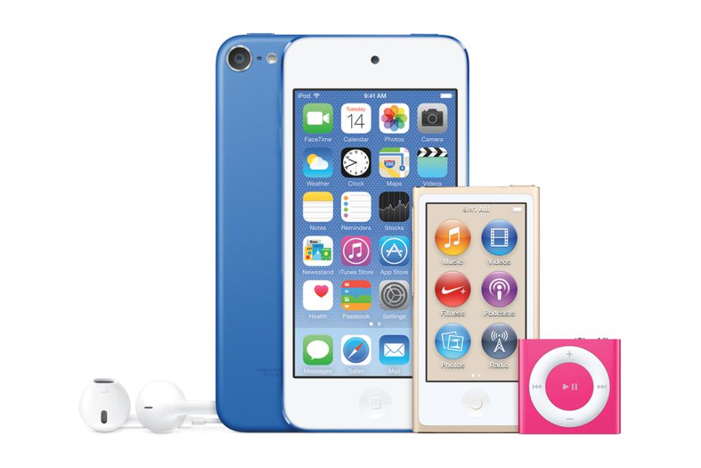 Apple представляет новую линейку iPod