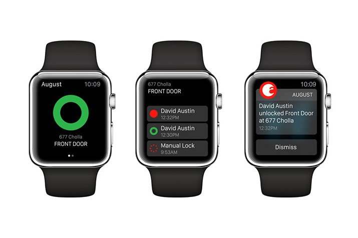 Apple Watch теперь работают с умным замком August