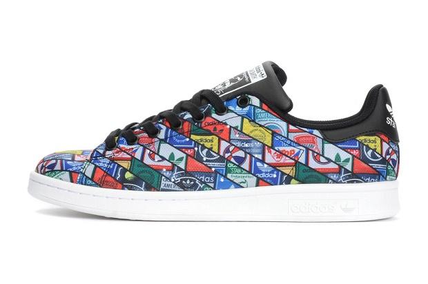 Кроссовки adidas Originals Stan Smith с коллажем из логотипов
