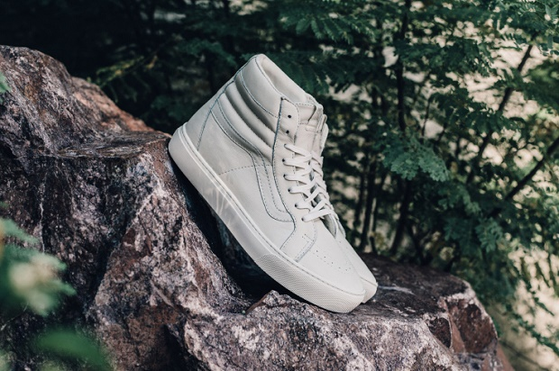 "Кроссовки Vans Leather Sk8-Hi Cup CA ""Whisper White"""