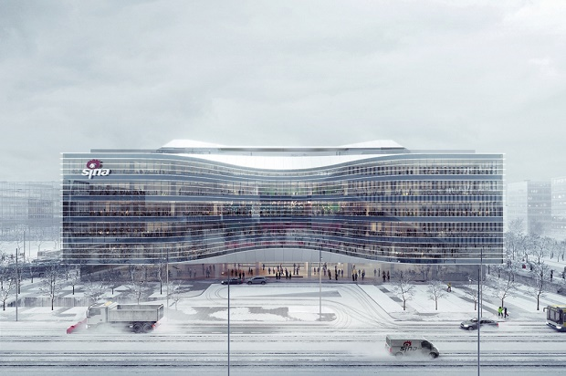 Символ вечности в новом дизайне от Aedas для штаб-квартиры Sina в Пекине