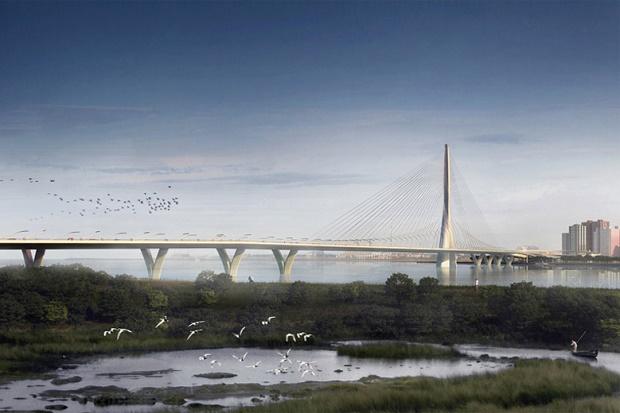 Zaha Hadid Architects представляет асимметричный мост для Тайбэя