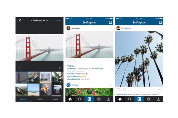 Instagram разрешил прямоугольный формат