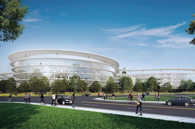 Apple арендует место под второй футуристический кампус в Кремниевой долине