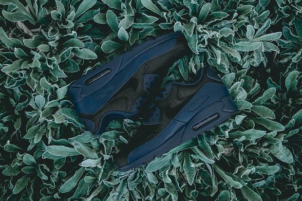 Кроссовки Nike Air Max 90 зима 2015 Premium Squadron Blue/Black