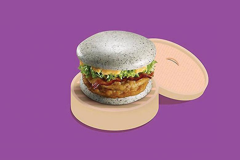 МакДональдс представил серый бургер эксклюзивно для китайского рынка
