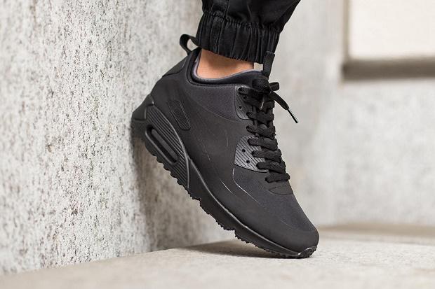 Кроссовки Nike Air Max 90 Mid Зима 2015 Black