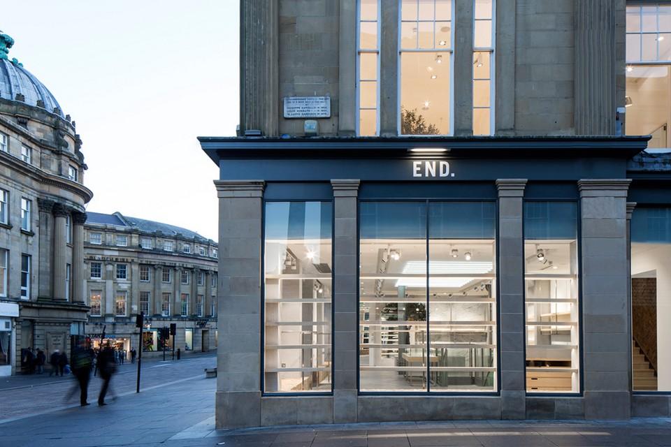 END. открыл новый флагманский магазин в Ньюкасле