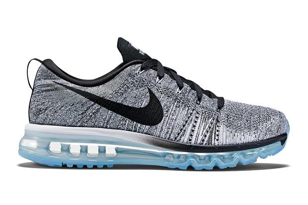Кроссовки Nike Flyknit Air Max White/Cool Grey/Wolf Grey/Black