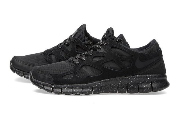 Кроссовки Nike Free Run 2 Premium Black/Metallic Pewter