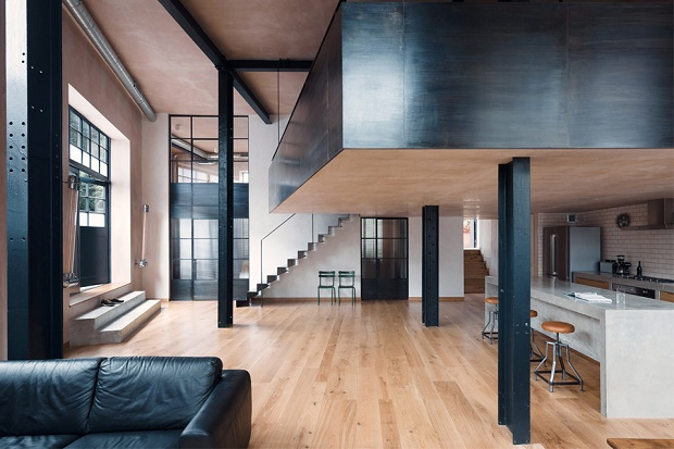 Sadie Snelson Architects создало квартиру с интерьером в стиле лофт